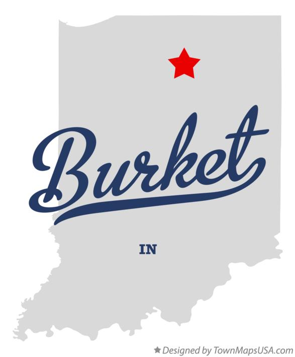 Map of Burket Indiana IN