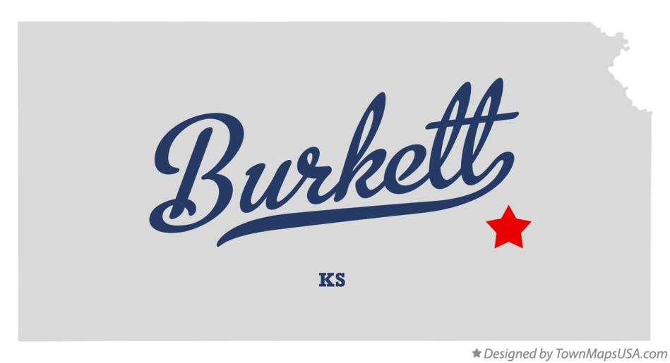 Map of Burkett Kansas KS
