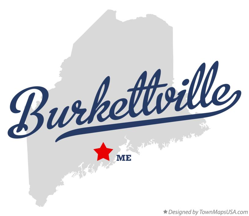 Map of Burkettville Maine ME