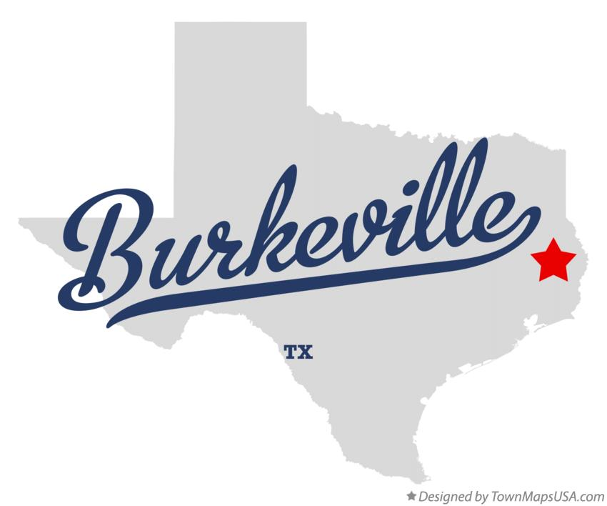 Map of Burkeville Texas TX