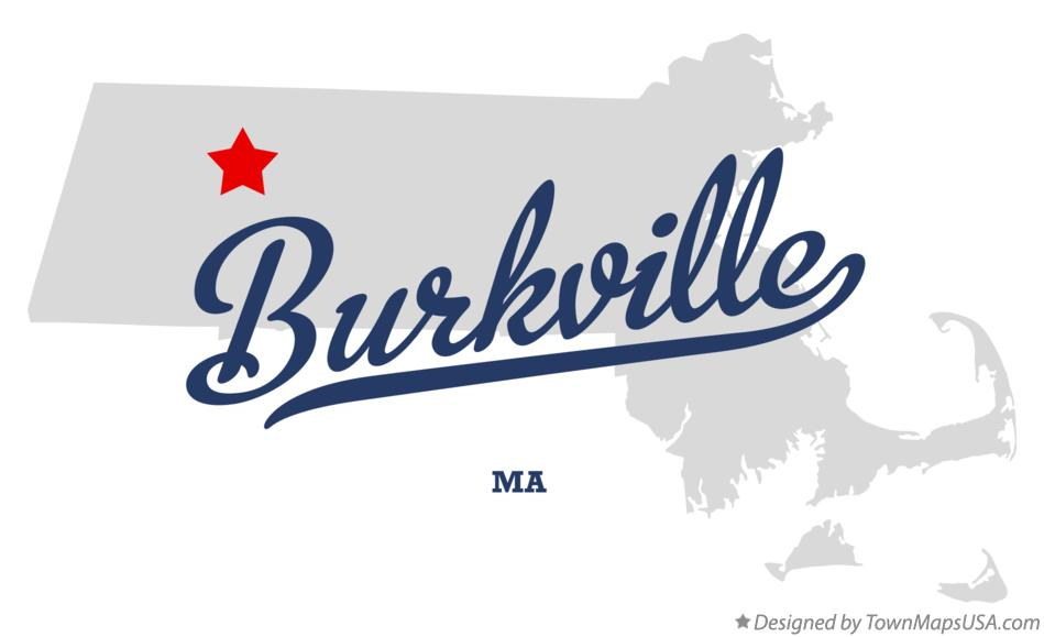 Map of Burkville Massachusetts MA