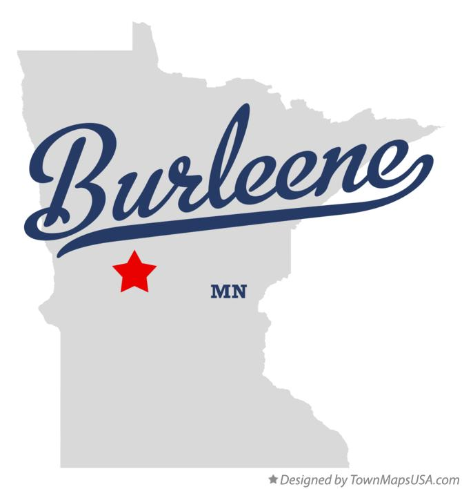 Map of Burleene Minnesota MN