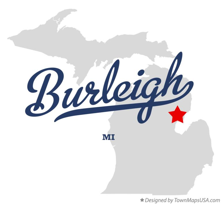 Map of Burleigh Michigan MI