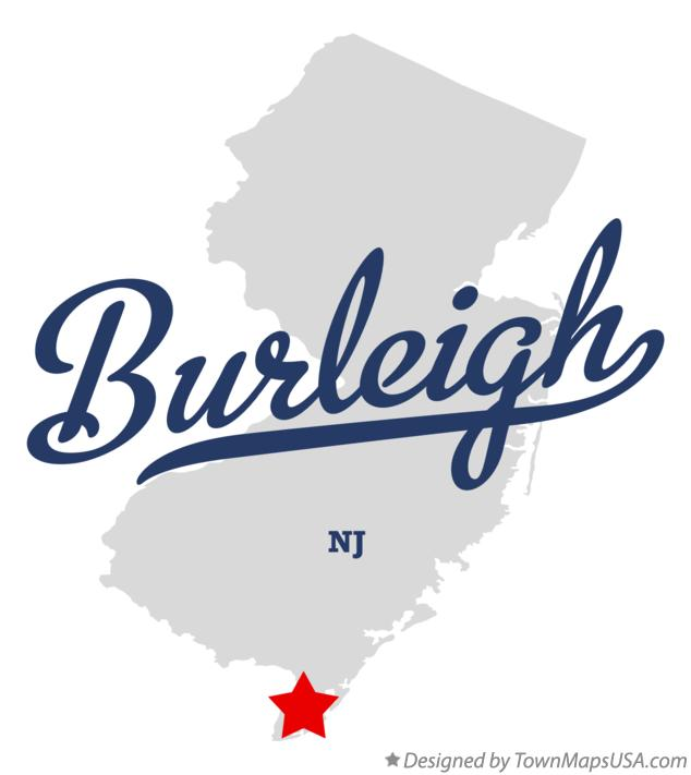 Map of Burleigh New Jersey NJ
