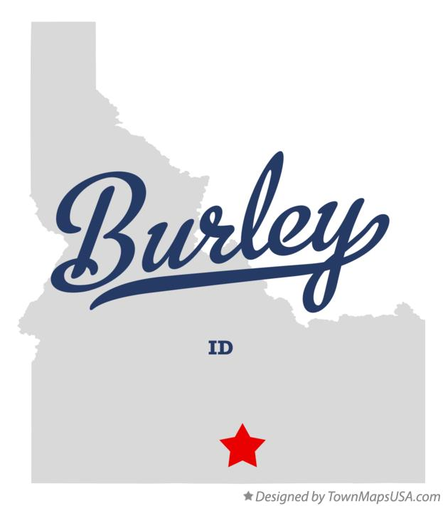 Map of Burley, ID, Idaho
