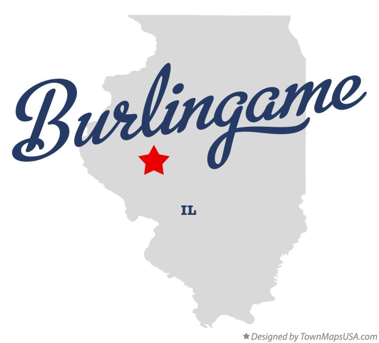 Map of Burlingame Illinois IL