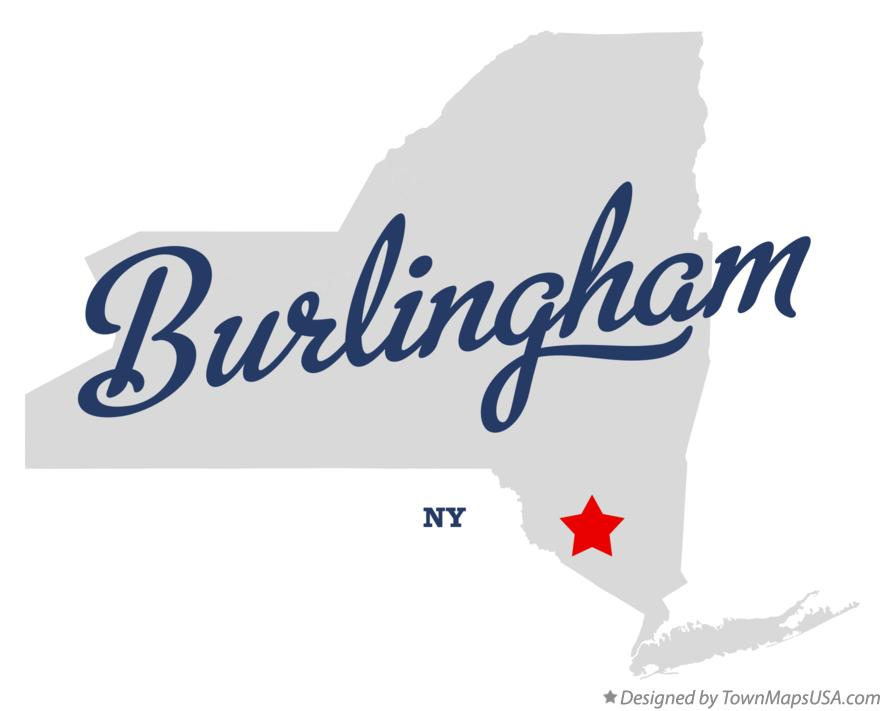 Map of Burlingham New York NY