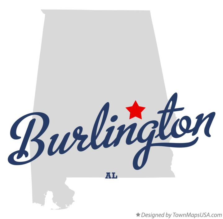 Map of Burlington Alabama AL