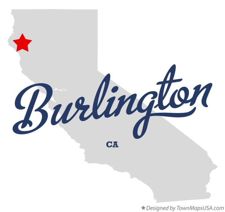 Map of Burlington California CA