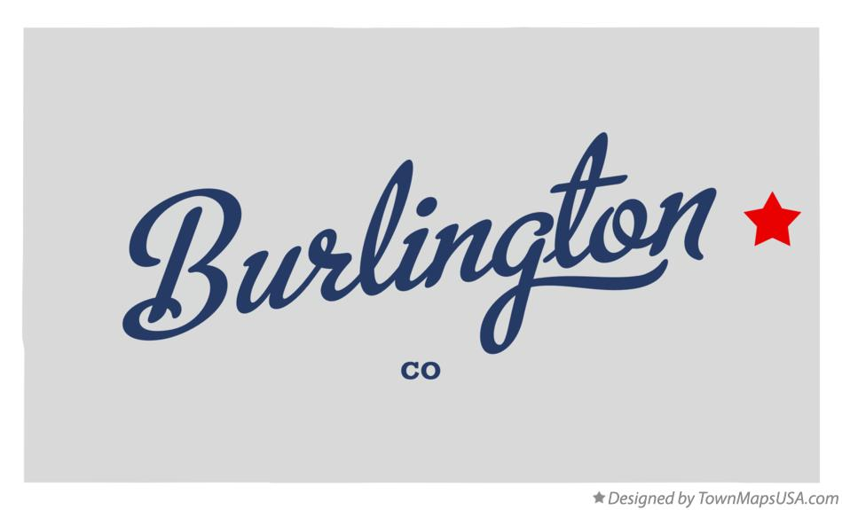 Map of Burlington Colorado CO