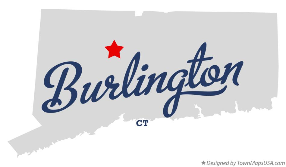 Map of Burlington Connecticut CT