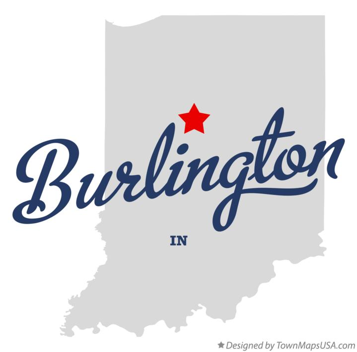 Map of Burlington Indiana IN