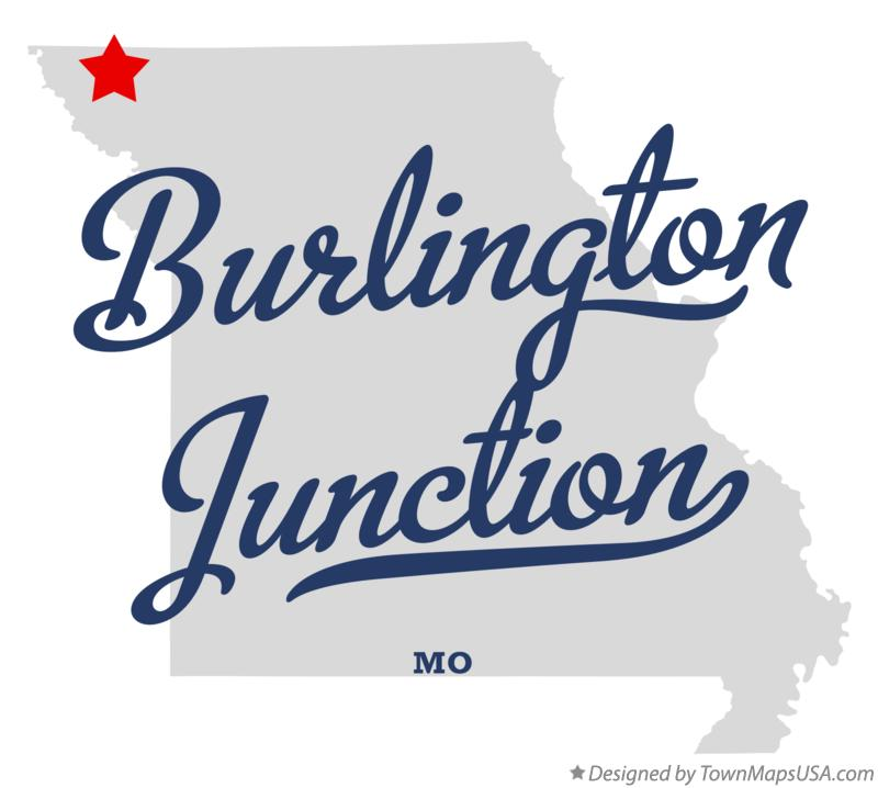 Map of Burlington Junction Missouri MO