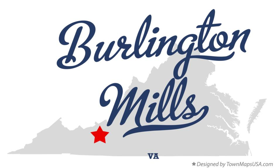 Map of Burlington Mills Virginia VA