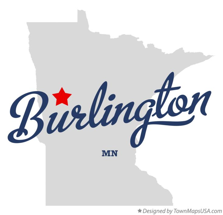 Map of Burlington Minnesota MN
