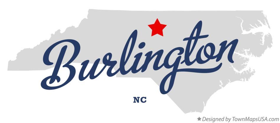 Map Of Burlington North Carolina Nc