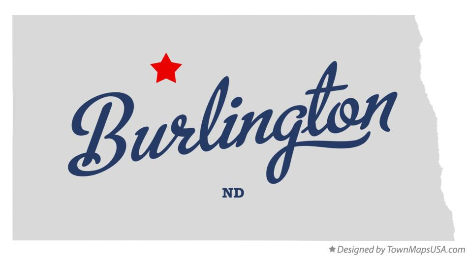 Map of Burlington North Dakota ND