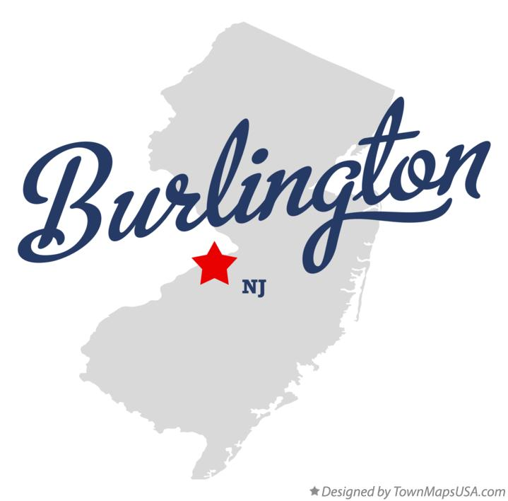Map of Burlington New Jersey NJ