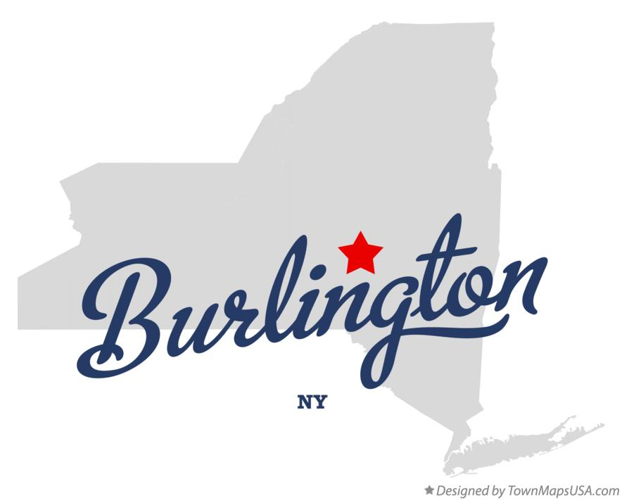 Map of Burlington New York NY
