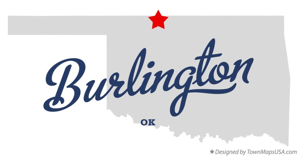 Map of Burlington Oklahoma OK