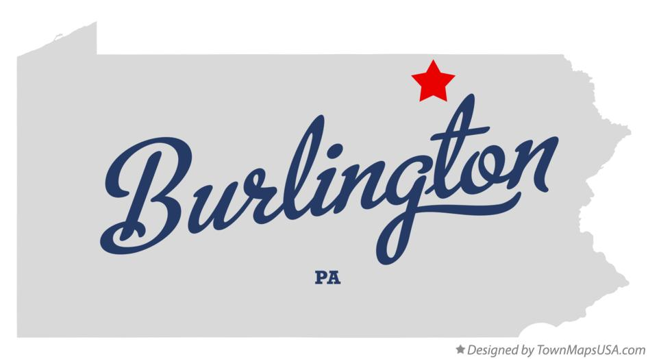 Map of Burlington Pennsylvania PA