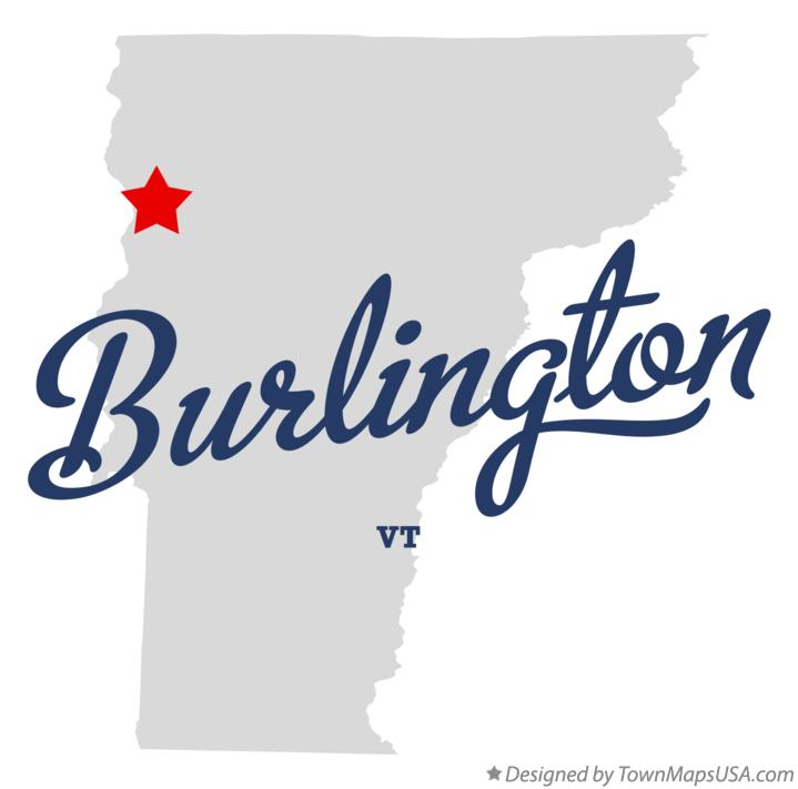Map of Burlington Vermont VT