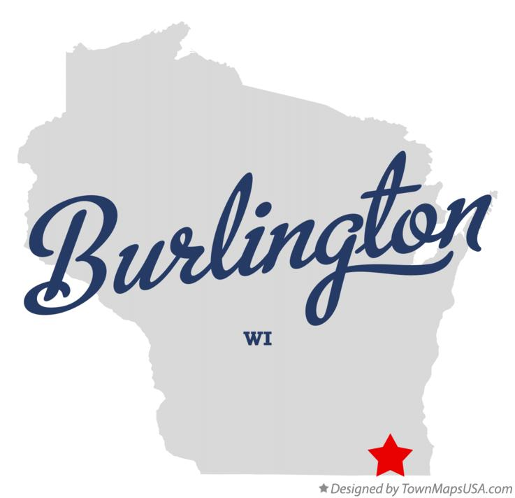 Map of Burlington Wisconsin WI