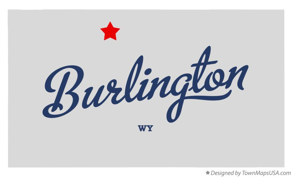 Map of Burlington Wyoming WY