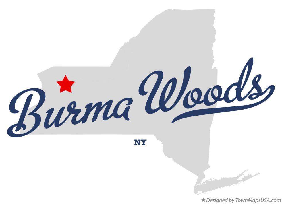 Map of Burma Woods New York NY