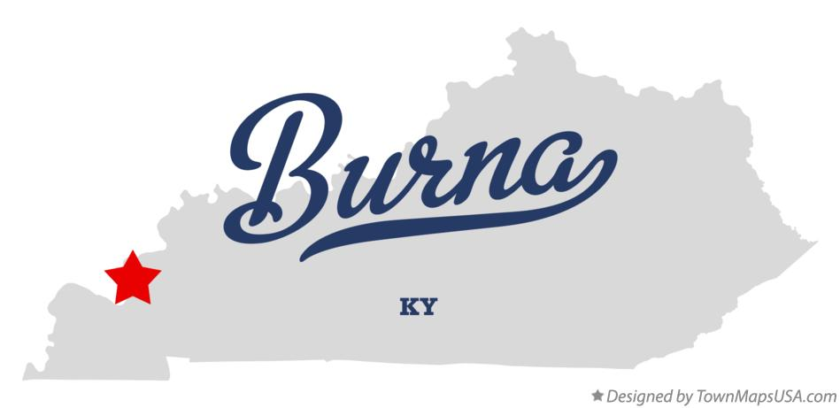 Map of Burna Kentucky KY