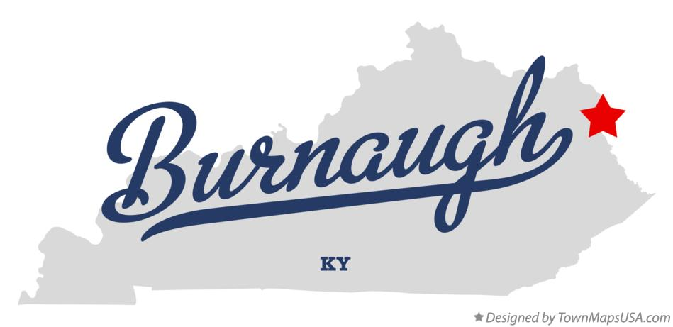 Map of Burnaugh Kentucky KY