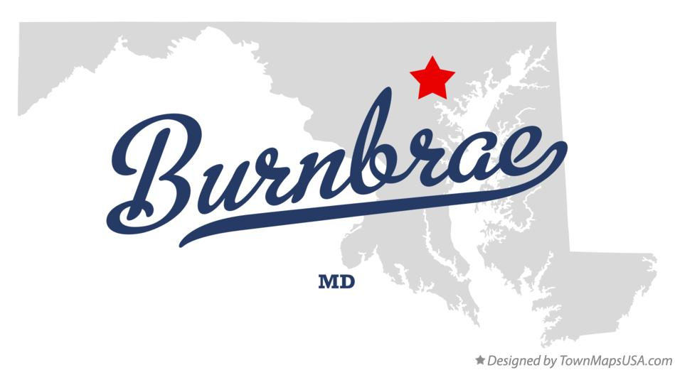 Map of Burnbrae Maryland MD