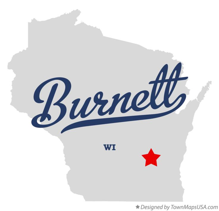 Map of Burnett Wisconsin WI