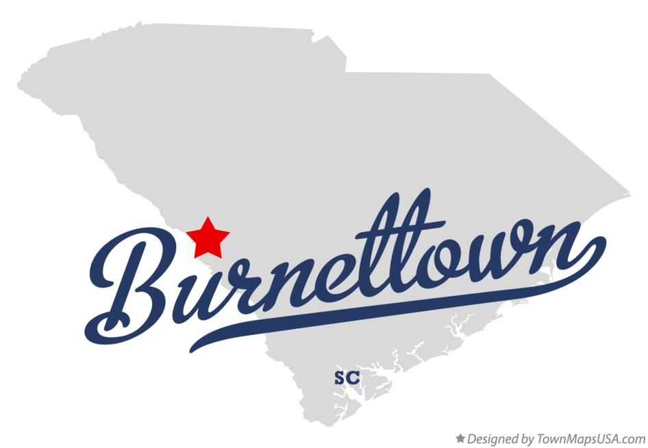 Map of Burnettown South Carolina SC