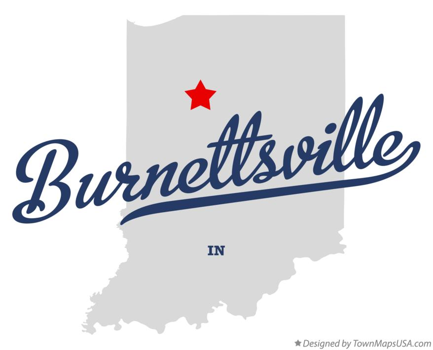 Map of Burnettsville Indiana IN