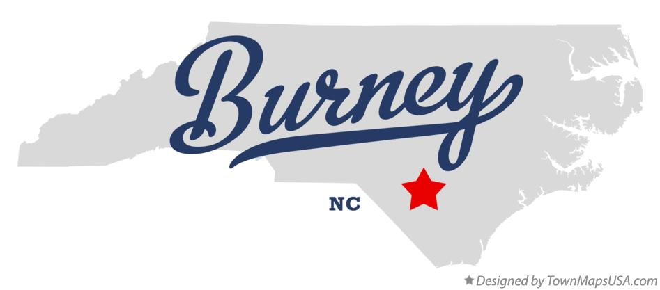 Map of Burney North Carolina NC
