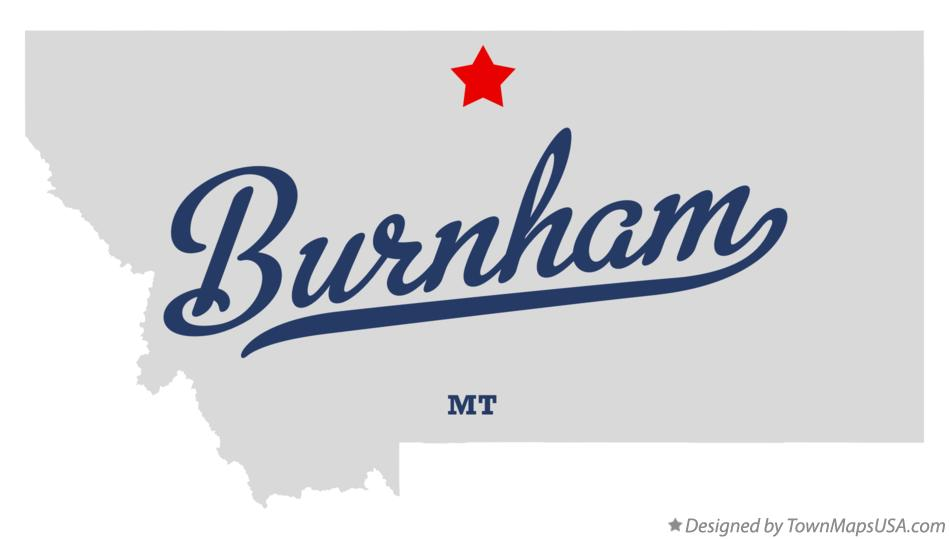 Map of Burnham Montana MT