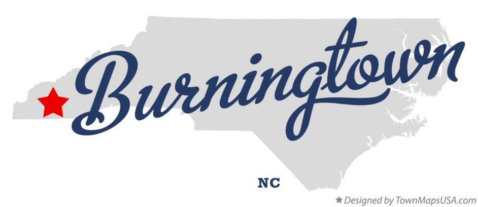 Map of Burningtown North Carolina NC