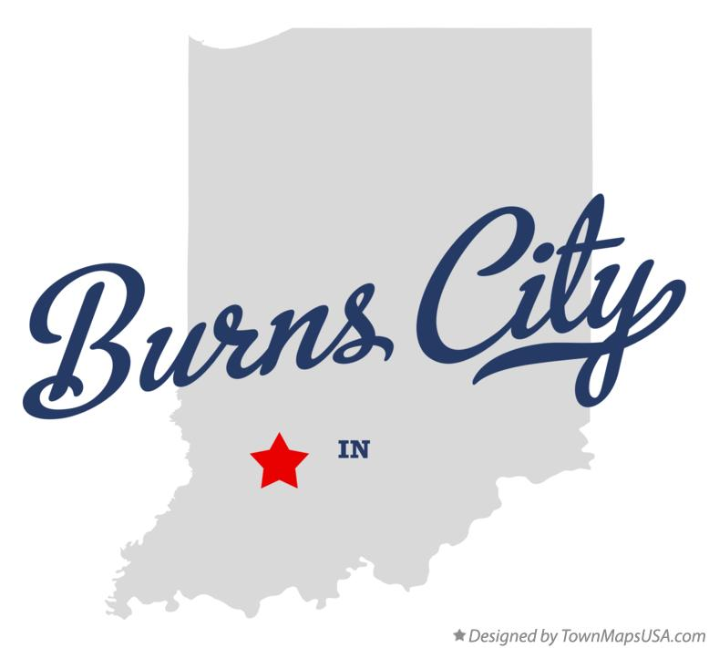 Map of Burns City Indiana IN