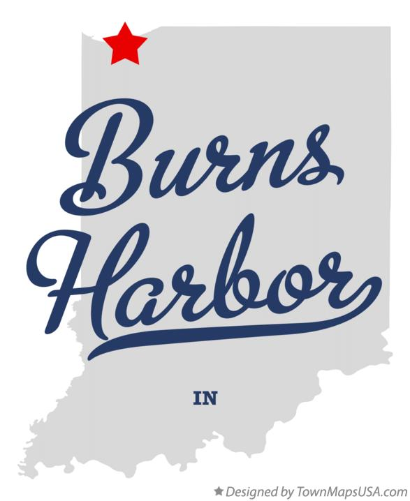Map of Burns Harbor Indiana IN