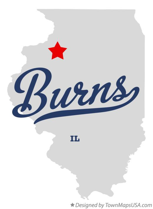 Map of Burns Illinois IL