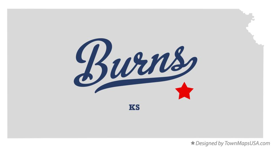 Map of Burns Kansas KS