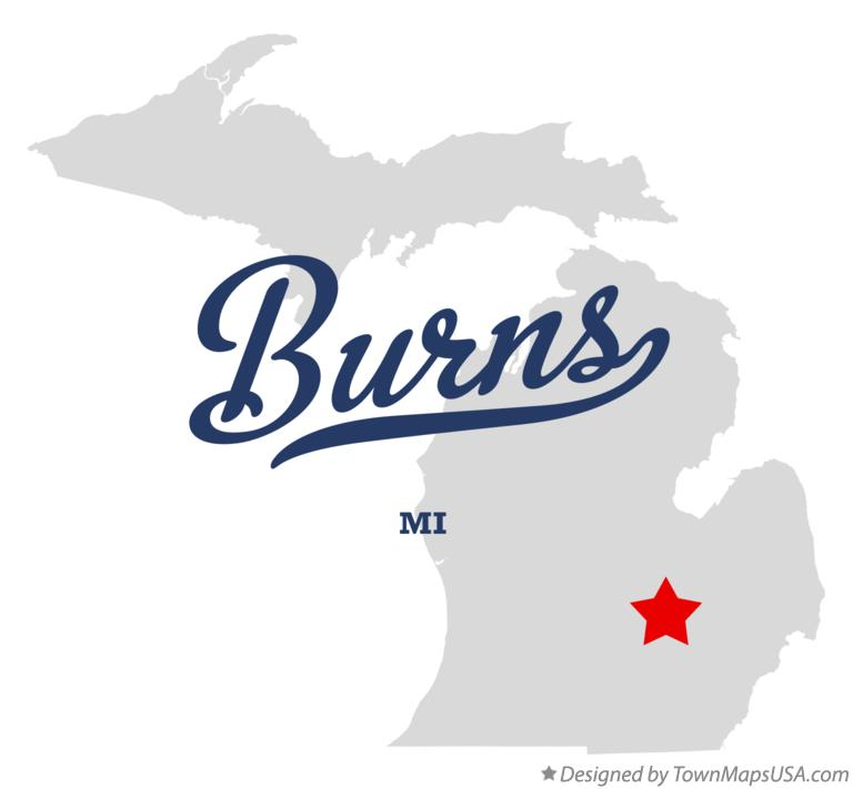 Map of Burns Michigan MI