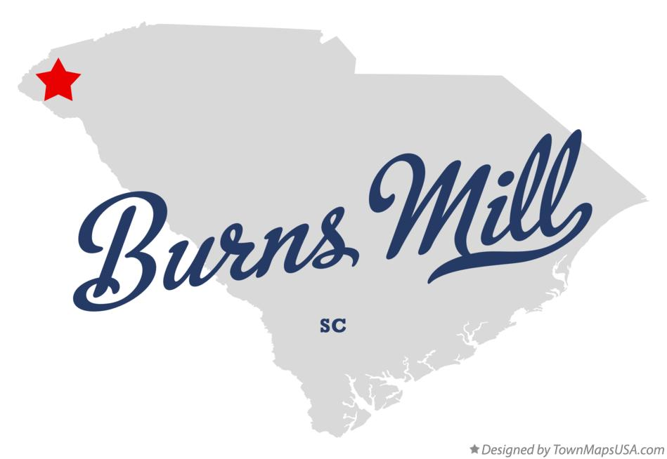 Map of Burns Mill South Carolina SC