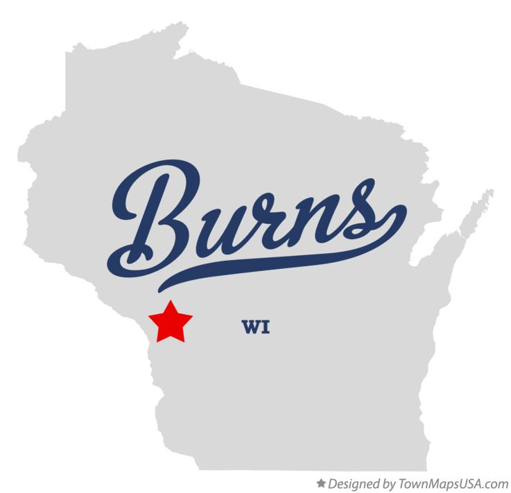Map of Burns Wisconsin WI