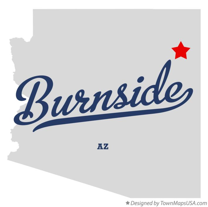 Map of Burnside Arizona AZ