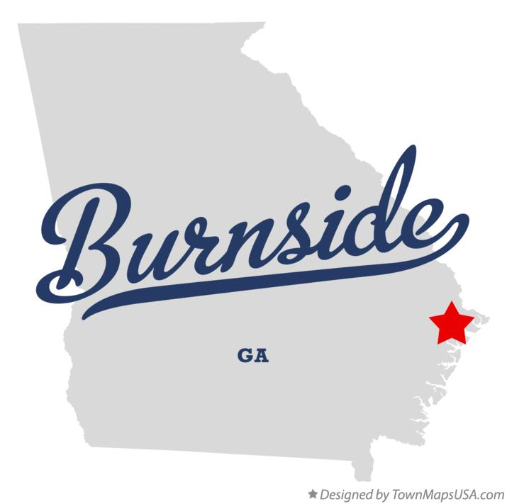 Map of Burnside Georgia GA