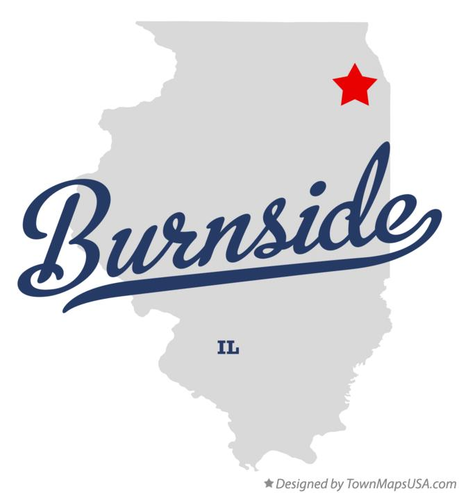 Map of Burnside Illinois IL
