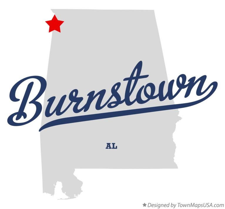 Map of Burnstown Alabama AL
