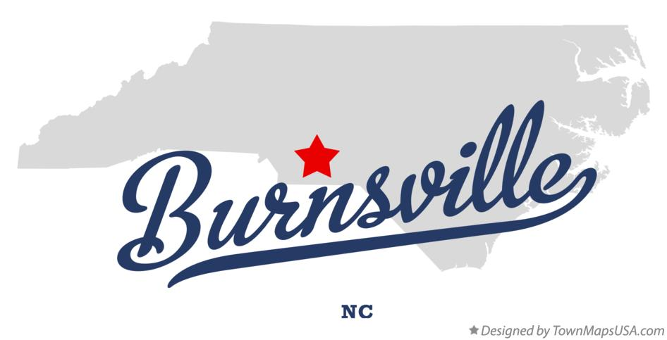 Map of Burnsville North Carolina NC